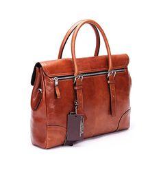 Business Fashion Genuine Soft Leather Brown Handbag of High Quality | www.pilaeo.com