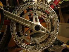 Make Your Own Drillium! (Drilled Bike Components) – Famous Last Words Vintage Bicycle Parts, Recycled Bike Parts, Bicycle Types, Vintage Bicycles, Cool Bicycles, Cool Bikes, Bicycle Garage, Bike Details, Push Bikes