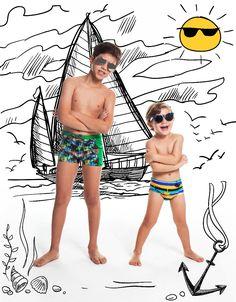 Muito mais proteção para as brincadeiras ao sol! Viva o verão e viva nossa coleção Kids. 💙🌊🌴🌞