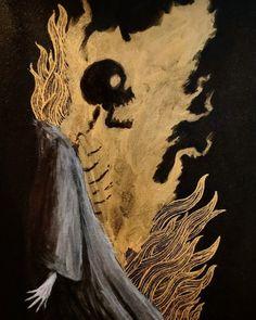 Strange Gods- the art of Valin Mattheis Arte Horror, Horror Art, Skeleton Art, Macabre Art, Dark Art Drawings, Creepy Art, Dark Fantasy Art, Aesthetic Art, Art Blog