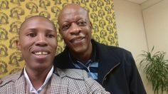 Isaac Mavuso with Mzwakhe Mbuli