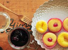 Pineapple Upside Down Cupcakes with Blackberry Jam | Rue
