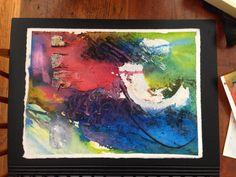 Multi Media - watercolour, acrylic, sand, modeling paste.