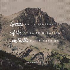 Romanos 12:12 gozosos en la esperanza; sufridos en la tribulación; constantes en la oración;♔