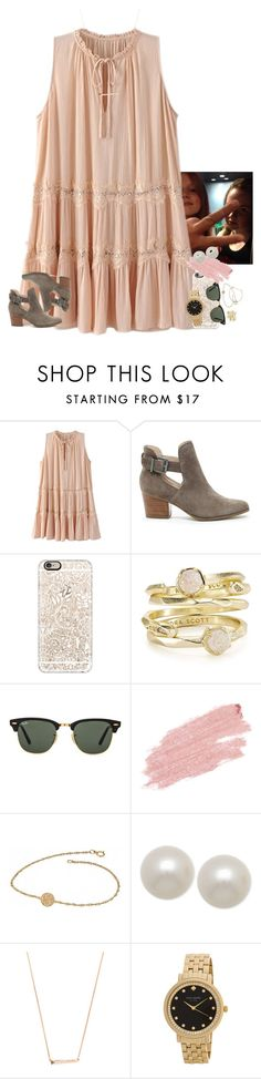"""""""wassup babes⚓️"""" by ellaswiftie13 ❤ liked on Polyvore featuring Sole Society, Casetify, Kendra Scott, Ray-Ban, Jane Iredale, Alison & Ivy, Honora, Kate Spade and Cartier"""