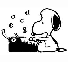 New Custom Screen Printed T-shirt Snoopy Typewriter Small - Peanuts Cartoon, Peanuts Snoopy, Snoopy Quotes, Joe Cool, Custom Screen Printing, Charlie Brown And Snoopy, Snoopy And Woodstock, Writing A Book, Cartoon Characters