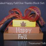Dual Sided Happy Fall Give Thanks Blocks Burlap Bags, Home Organization Hacks, Leaf Art, Fall Diy, Pumpkin Decorating, Give Thanks, Happy Fall, Simple House, Fun Projects