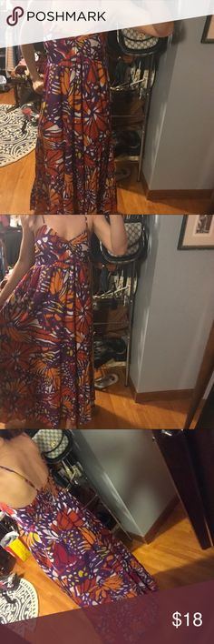 Beautiful butterfly dress Very pretty dress reminds me of a monarch butterfly. Dress is fully lined, has adjustable straps and hits around the ankle in length.. kyra Dresses Maxi