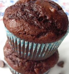 Chocolate Costco Muffins - Your Cup of Cake... I replace the sour cream with greek yogurt & replace applesauce for the oil. YUM!