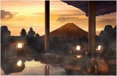 HOTEL GREEN PLAZA HAKONE, JAPAN   The hot springs here have views of Mt. Fuji.