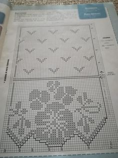 Filet Crochet, Crochet Stitches, Crochet Curtains, Cross Stitching, Color Patterns, Weaving, Bullet Journal, Notes, Embroidery