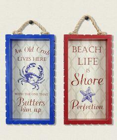 Look at this #zulilyfind! Coast Life Box Sign - Set of Two #zulilyfinds