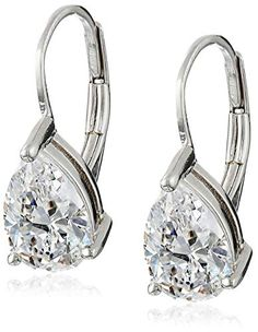 63429cb8d Check out Platinum-Plated Sterling Silver and Cubic Zirconia Earrings (2 .