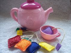 Felt Tea Bags for Pretend Kitchen Play set of 6 by lizzieboutique, $7.75