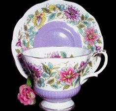 purple china patterns | Royal Albert China Series - Jacobean