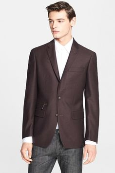 Trim Fit Wool Blazer