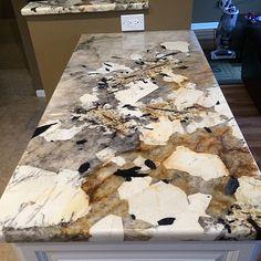 Full Height Granite Backsplash Persian Pearl Lumi White