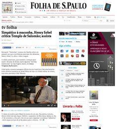 Livro: Sobel Veículo: Tv Folha. Data 20/08/2014 Cliente: Editora Alaúde