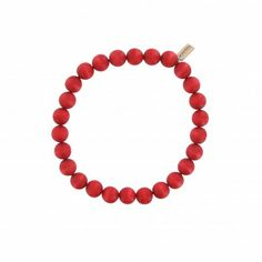 Handgefertigte Halskette der finnischen Manufaktur AARIKKA. #Halskette #Holzschmuck #Perlenkette  #stilvoll #zeitlos #elegant #rot #nachhaltig