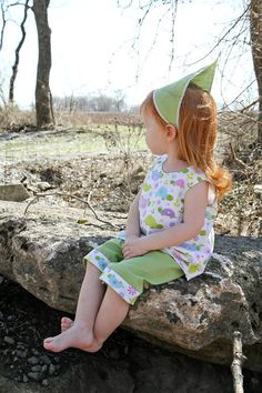 Green turtle capri outfit by lilbethkids on Etsy $30.00