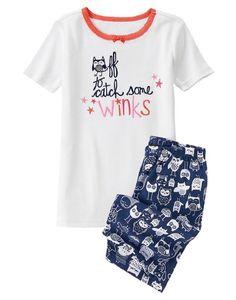 NWT Gymboree GYMMIES Sharks Snack Time Snug Fit S//S 2PC Pajamas PJs