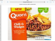 Quorn Chilli & Wedges 400g pack = 2syns Slimming World Syn Values, Slimming World Syns, Slimming World Recipes, Quorn Mince, Quorn Recipes, Snack Recipes, Snacks, Mexican Style