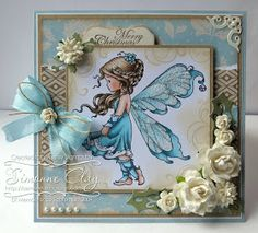 SemSee's Sparkly Scribblings: Whimsy Stamps: Wee Stamps Silver Fairy