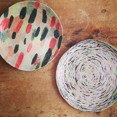 ceramic plates by Charlotte Trounce
