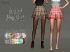 Pleated Mini Skirt PLAID EDITION at Trillyke • Sims 4 Updates