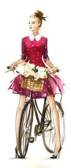 amazing, I love the dress, bike, the basket. basically the whole thing.