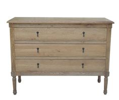This solid birch wood chest is both stylish and practical. It features eight solid drawers, each with beautifully delicate carved detailing. Bedroom Drawers, Bedroom Furniture, Home Furniture, Wide Dresser, 3 Drawer Dresser, Low Chest Of Drawers, Hamptons Bedroom, Wood Chest, Weathered Oak