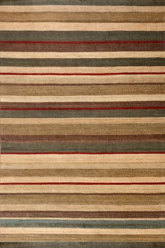 Dash & Albert | Saddle Stripe Jute Woven Rug | This versatile, warm-hued striped area rug is made of a durable, pet-friendly, foot-tickling jute weave. Saddle up, pardner!