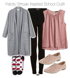Felicity Smoak Inspired School Outfit by staystronng on Polyvore featuring polyvore fashion style H&M Topshop school Arrow felicitysmoak