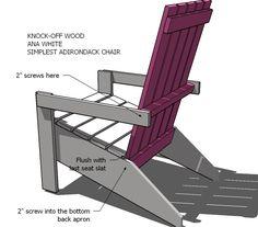 Ana White | Ana's Adirondack Chair - DIY Projects