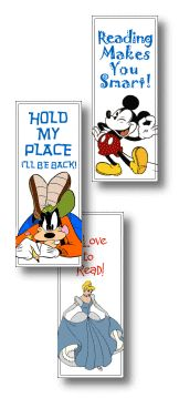 Print Bookmarks - We Love Disney - Pixar - Dreamworks - Looney Toons - Nickelodeon - BillyBear4Kids.com