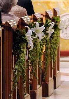 Casablanca lilies and green orchid sprays