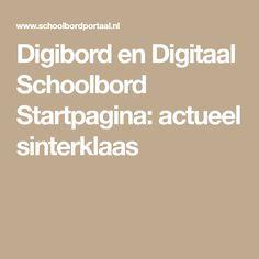 Digibord en Digitaal Schoolbord Startpagina: actueel sinterklaas