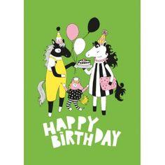 Postikortti - useita eri kuvioita Happy Birthday Cards, Minnie Mouse, Disney Characters, Fictional Characters, Posters, Illustrations, Green, Design, Art