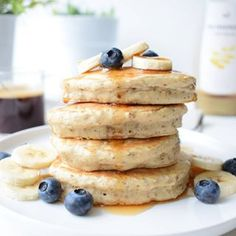Ideas for breakfast pancakes fluffy sugar Pancakes Végétaliens, Vegan Pancakes, Fluffy Pancakes, Breakfast Pancakes, Breakfast For Dinner, Breakfast Sandwiches, New Recipes, Sweet Recipes, Vegan Recipes