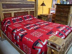"""Part of our best-selling Southwestern Bedspread Collection.   This bedspread is fully reversible and is 10% Polyester and 90% Acrylic. Prominent colors:Red, Black, Grey, Tan, WhiteAvailable in Queen (approx. 88"""" x 96"""") and King (approx. 114"""" x 96"""").   El Paso Saddleblanket has been the leader in Southwest ceramics and textiles since 1970.  Our popular bedspreads come in the best Southwest and Western designs available.   Dozens of styles to choose from.  View our entire  collection via…"""