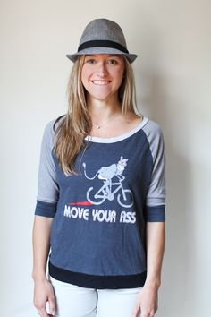 'Move Your Ass'  This up cycled tee is funny and soft!  Get yours at www.caughtdreamin.com