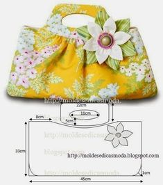 Summer bags with their own hands - a pattern Fabric Purses, Fabric Bags, Patchwork Bags, Quilted Bag, Bag Quilt, Diy Sac, Handbag Patterns, Craft Bags, Cute Bags