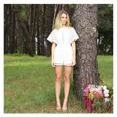 The 'Eternal Love Lace Playsuit in Cream $79.90' is playsuit perfection! I just love this gorgeous style. Shop it online at shop.stfrock.com.au #stfrock #fashion #love #lace #cream