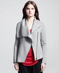 HELMUT Helmut Lang Sweatshirt-Knit Zip Jacket, Short-Sleeve Shirttail-Front Tee & Drawstring Sweatshirt Easy Pants - Bergdorf Goodman