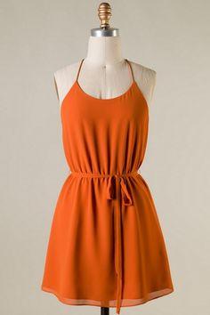 efe7e9e664 Burnt Orange Dress for University of Texas GameDay
