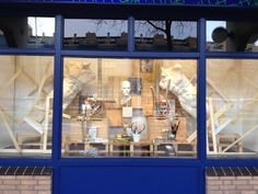 Window display at Art and craft store. Styled by Rich Art Design.