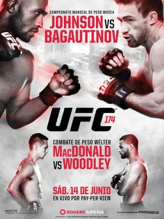 UFC 174 Official Event Poster (Demetrious Johnson v Bagautinov) - Vancouver Ufc Live Stream, Mma, Demetrious Johnson, Ufc Events, Vancouver, Tyron Woodley, Boxing Fight, Hometown Heroes, Mixed Martial Arts