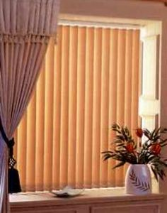 Vertical Blinds with drapery panels