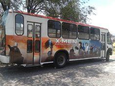 BUS CON DISEÑO DE PELÍCULA X-MEN MÉXICO CONTRATA