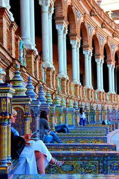 Beautiful Plaza De España in Sevilla Spain